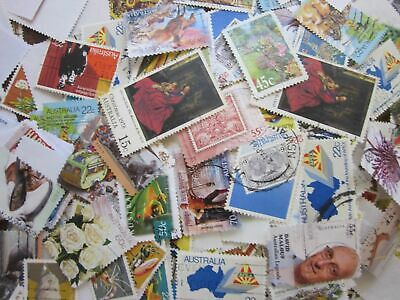 1Kg Bulk Mixed Used Australia Stamps
