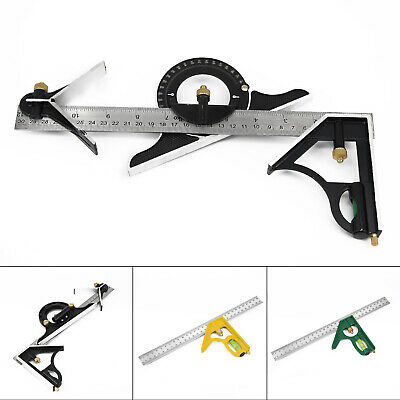 Set & Finder Square Ruler Adjustable Angle Combination Level Protractor Tool