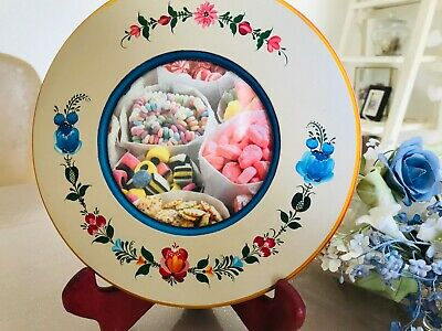 """Rosemaling art - hand painted wooden photo frame - size 9"""" including stand"""