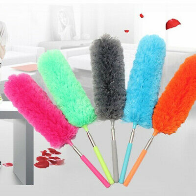 Clean Tool Soft Microfiber Telescopic Duster Brush Extendable  House Cleaning