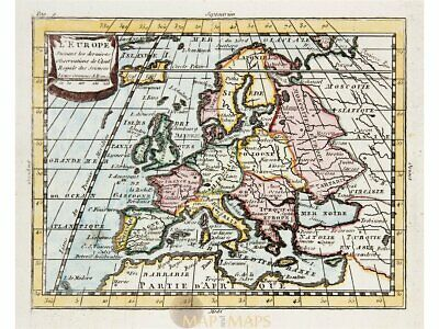 Europe antique old map by Claude Buffier 1769