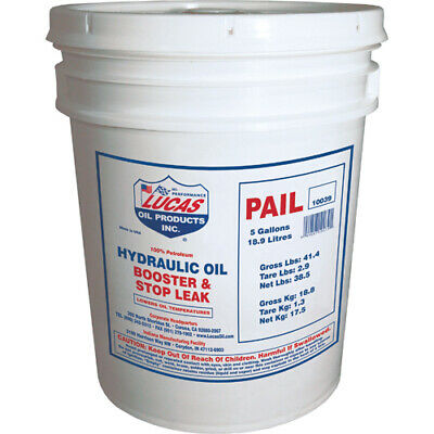 Lucas Oil 10039   Hydraulic Oil Booster/Stop Leak 5 Gallon Pail
