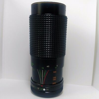 Canon FD Mount SLR Lens- Star-D Gold Line MC Auto Zoom 1:3.9 80-200mm f3.9 Macro