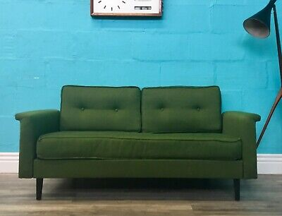 Superior Quality Retro Vintage Mid Century Greaves And Thomas Drop Arm Sofa Bed