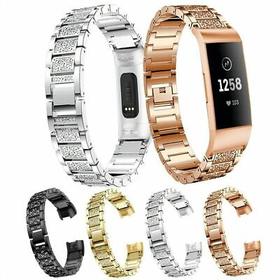 For Fitbit Charge 2 Stainless Steel Replacement Wristband Metal Bracelet Band