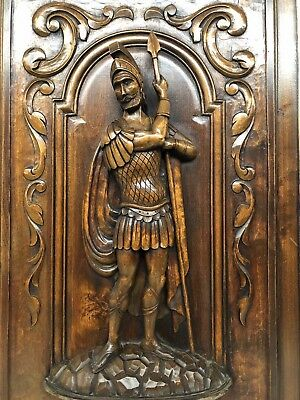 Stunning  Carved  panel with Soldier / Knight