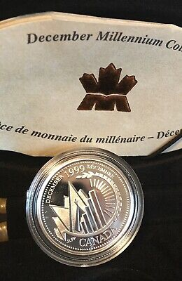 1999 Millennium Silver 25¢ Proof Anniversary Series - **December** With Coa