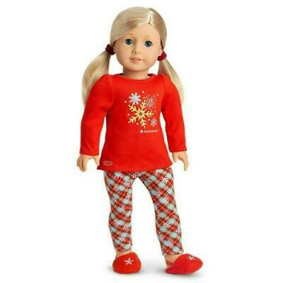 """American Girl Holiday Dreams Pajamas PJ's For 18"""" Dolls In Truly Me Box"""