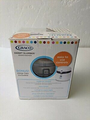 Graco Sweet Slumber MP3 Baby Sound Sleep Machine Night Light White