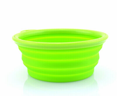 Cute Pet Dog Cat Silicone Collapsible Travel water Bowl Dish feeder dispenser