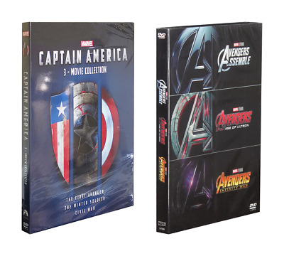The Avengers 3-Movie Collection & Captain America 3-Movie Collection DVD BOX SET