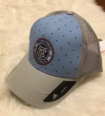 5ec5239a10254 NWT adidas Womens MLS New York City FC Football Club Baseball Cap Trucker  Hat