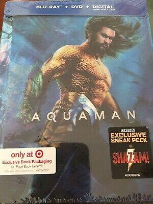AQUAMAN (Blu-Ray + DVD + Digital) TARGET Exclusive Only