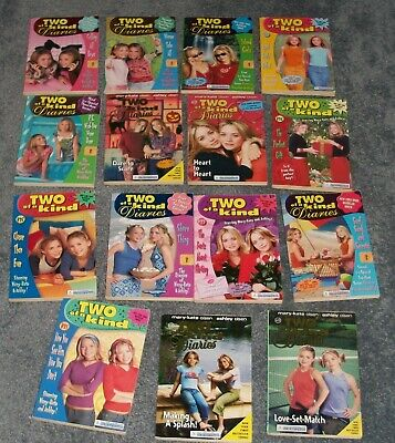 Two of a Kind Diaries Mary-Kate & Ashley 15 softcover books Very good condition