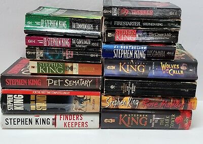 Mixed lot of 15 Stephen King Books Pet Sematary Firestarter Stand Finders Keeper