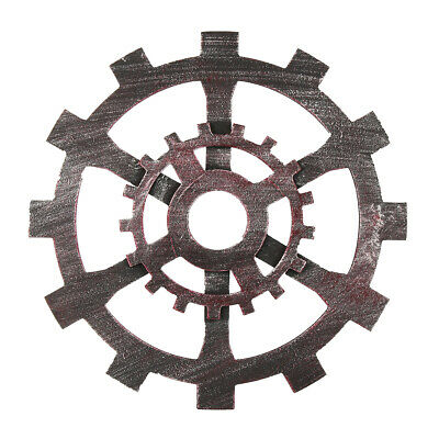 30cm Industrial Wood Wooden Gear Vintage Retro Art Bar Cafe Wall Hanging