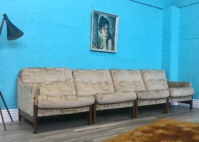 Superior Quality Retro Vintage Mid Century Stylish Modular Four Seater Sofa