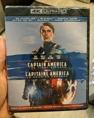 Captain America The First Avenger (Blu-ray + 4K UHD) BRAND NEW!! MARVEL