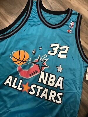 1522a7824e35 Vintage 1996 NBA All Stars Shaquille O Neal Champion Jersey Size 48 Brand  New