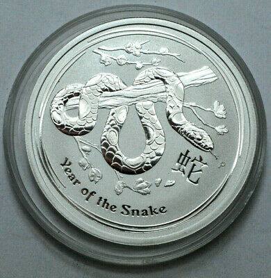 Rare 2013 Silver Year of The Snake 1/2oz.999Silver Perth Mint Australia 50 Cents