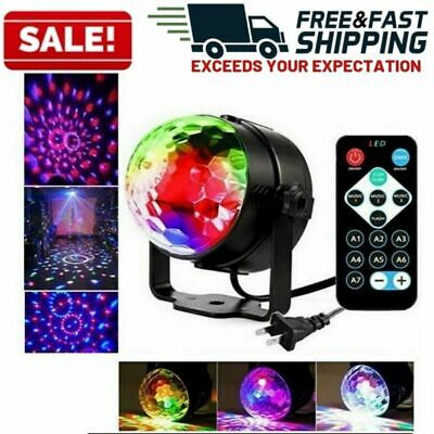 Party Lights Disco Ball Stage Strobe LED DJ Indoor Colored Dance Sound Activated