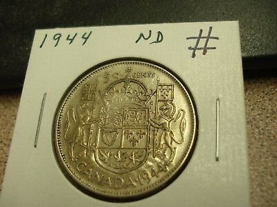 1944 ND - Canada Silver Half Dollar - Canadian 50 cent coin