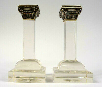 2 Candle Holders Silver um 1900