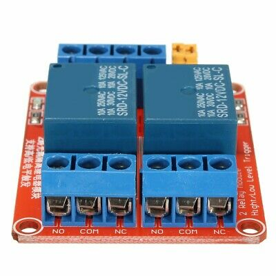 5Pcs 12V 2 Channel Relay Module With Optocoupler Support High Low Level Trigger