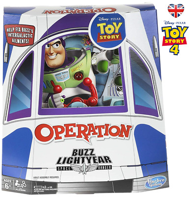 DISNEY TOY STORY 4 OPERATION Board Game 2019 Pixar Buzz Lightyear HASBRO
