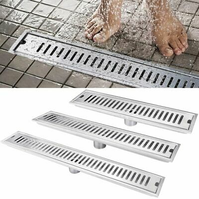 Rectangle Bathroom Shower Floor Drain Linear Waste Drainer Grate Stainless Steel