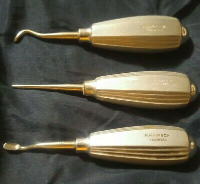 3 Vintage Dental Tools Made USA High Quality