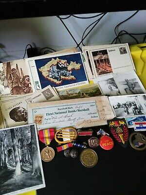 German Postcard / Medal & Photos / US Early American Bank Note & Stamp LOT