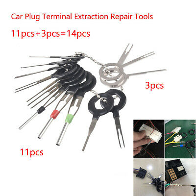 14pcs Wiring Connector Extractor Car Terminal Pin Removal Puller Release Tool