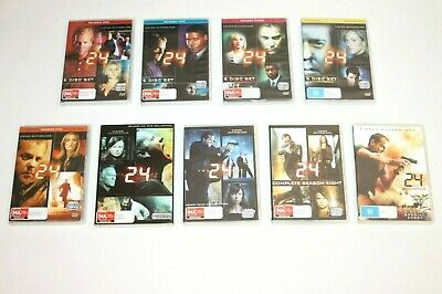 24 Complete Seasons 1 - 8 And Movie Redemption DVD Series Set