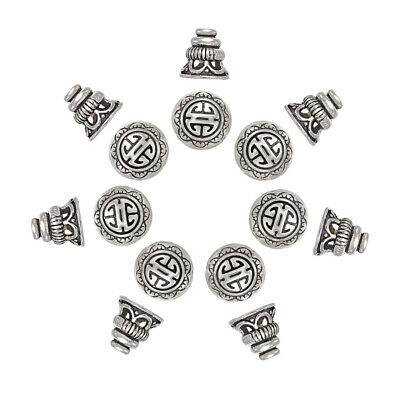 20 Tibetan Silver Carved Round Spacer Beads H0337