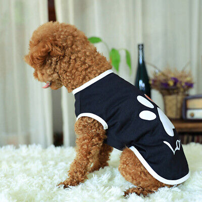 1 PC New Dogs Pet Dog Spring Summer Clothes Claw Pattern Cotton Sleeveless Vest