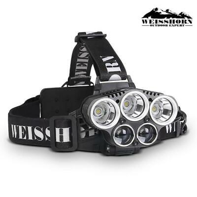 WEISSHORN 90000LM LED Headlamp Head Light Lamp Head Torch Flashlight Camping