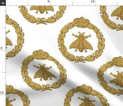 Napoleon Napoleon French Bee Antique Gilt Fabric Printed by Spoonflower BTY