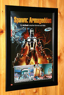 2003 Spawn Armageddon Small Poster / Old Ad Page Framed PS2 GameCube Xbox