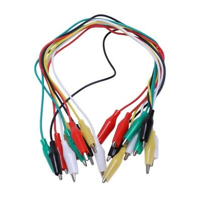 10 Pcs Colorful Double Ended Alligator Clips Test Lead Jumper Wires X4S8