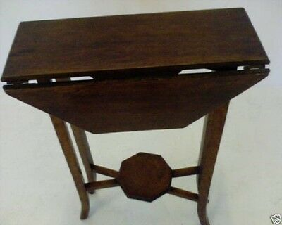 Attractive Vintage Octagonal Arts and Crafts Style Dropleaf Gateleg Table