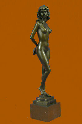 Collector Edition Statue Exquisite Bronze Nude Figurine Female Sculpture Gift