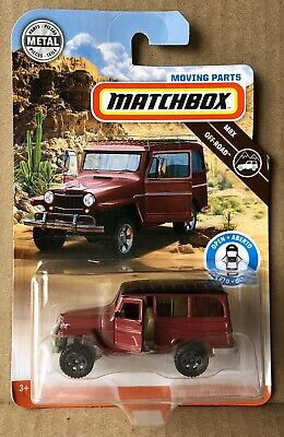 Matchbox 2019 Moving Parts '62 Jeep Willys Wagon (Red) Road Trip