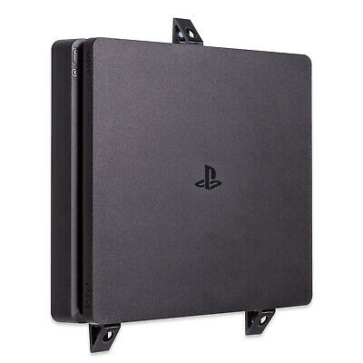 Wall Bracket for Playstation 4 PS4 Slim Game Console - Black