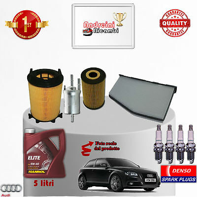 Filtres Kit D'Entretien Huile Bougies Audi A3 II 2.0 FSI Crayon 110kw