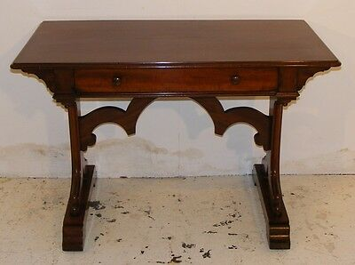 Good Quality Antique Mahogany Victorian Gothic Library Table