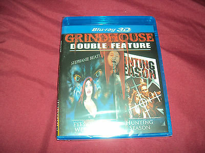 GRINDHOUSE EYES OF THE WEREWOLF & HUNTING SEASON Factory Sealed 3D Blu Ray DVD