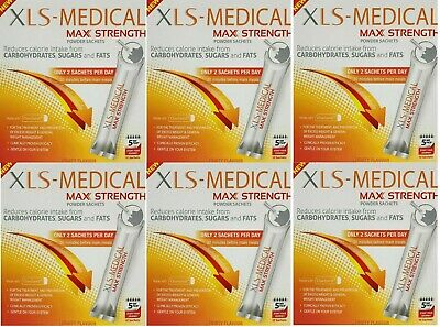 XLS-Medical Max Strength 6x Boxes of 10 Sachets = 30 Day Supply! EXPIRY 06/2019