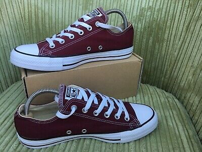 ffd24c19c5b Genuine Converse All Star Trainers Pumps Size 8 Uk Mens Dark Maroon Red  Canvas