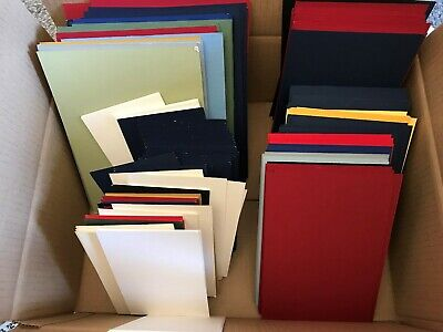 145 TOTAL MOUNTBOARD ASSORTED COLOURS 55 x 6x4, 65 3x5, 25 5x7, CARD MOUNT BOARD